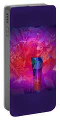 Portable Battery Charger featuring the digital art Garden Vase by Iris Gelbart