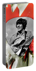 George Harrison Beatles Art Portable Battery Charger