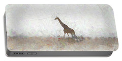 Portable Battery Charger featuring the digital art Giraffe Abstract by Ernie Echols