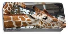 Portable Battery Charger featuring the photograph Giraffes by Dart and Suze Humeston