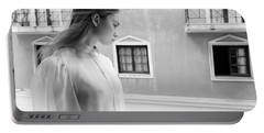 Girl In Profile Portable Battery Charger
