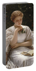Girl Reading Portable Battery Charger
