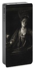 Girl With A Candle Portable Battery Charger