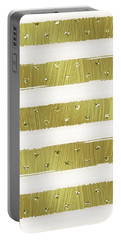 Gold Hearts Stripes Portable Battery Charger by Ps