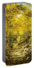 Golden Aspens In Colorado Mountains Portable Battery Charger