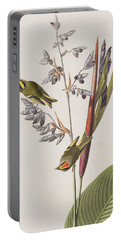 Golden-crested Wren Portable Battery Charger by John James Audubon