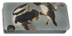 Golden-eye Duck  Portable Battery Charger by John James Audubon