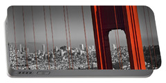 Portable Battery Charger featuring the photograph Golden Gate Bridge Panoramic by Melanie Viola