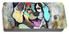 Golden Retriever Portable Battery Charger by Patricia Lintner