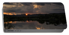 Portable Battery Charger featuring the photograph Golden Sunset by Melany Sarafis