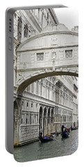 Gondolas Going Under The Bridge Of Sighs In Venice Italy Portable Battery Charger by Richard Rosenshein