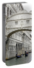 Gondolas Going Under The Bridge Of Sighs In Venice Italy Portable Battery Charger