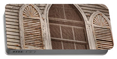 Gothic Window Portable Battery Charger by JAMART Photography