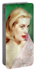 Grace Kelly By John Springfield Portable Battery Charger