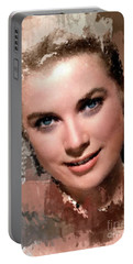 Grace Kelly, Vintage Hollywood Actress Portable Battery Charger by Mary Bassett