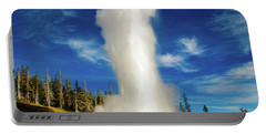 Portable Battery Charger featuring the photograph Grand Geyser by Norman Hall