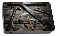 Portable Battery Charger featuring the photograph Granddad's Tools by Mark Fuller