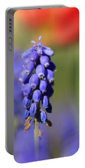Portable Battery Charger featuring the photograph Grape Hyacinth by Chris Berry