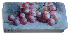 Portable Battery Charger featuring the painting Grapes... by Elena Oleniuc