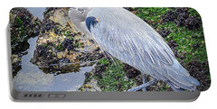 Portable Battery Charger featuring the photograph Great Blue Heron by AJ Schibig