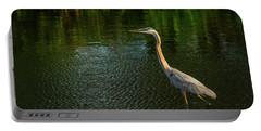 Great Blue Heron Delray Beach Florida Portable Battery Charger