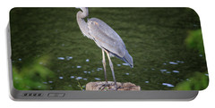 Great Blue Heron Portable Battery Charger by Gary Hall