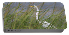 Great Egret Port Jefferson New York Portable Battery Charger