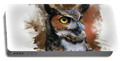 Great Horned Owl Two Portable Battery Charger