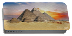 Great Pyramid Of Giza, Egypt Portable Battery Charger