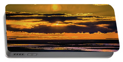 Portable Battery Charger featuring the photograph Great Salt Lake Sunset by Bryan Carter