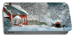 Green River Bridge In Snow Portable Battery Charger by Paul Miller