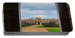 Greetings From Rice University. #framed Portable Battery Charger