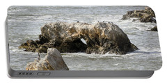 Portable Battery Charger featuring the photograph Grey Water At Window Rock by Barbara Snyder