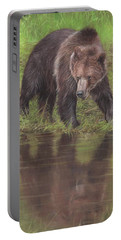Grizzly Bear At Water's Edge Portable Battery Charger