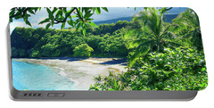 Portable Battery Charger featuring the photograph Hamoa Beach Hana Maui Hawaii by Sharon Mau