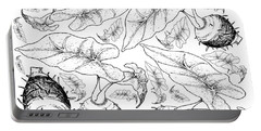 Hand Drawn Of Taro Roots On White Background Portable Battery Charger