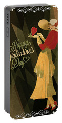 Portable Battery Charger featuring the digital art Happy Valentines Day by Jeff Burgess