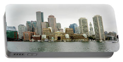 Portable Battery Charger featuring the photograph Harbor View by Greg Fortier