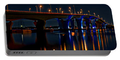 Hathaway Bridge At Night Portable Battery Charger by Anthony Dezenzio