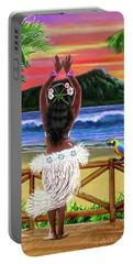 Hawaiian Sunset Hula Portable Battery Charger
