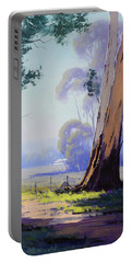 Hazy Light Landscape Portable Battery Charger