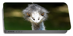 Head Of Ostrich Portable Battery Charger by Patricia Hofmeester