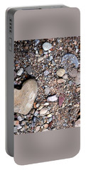 Heart Of Stone Portable Battery Charger by Danielle R T Haney