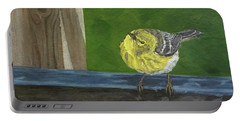 Portable Battery Charger featuring the painting Hello by Wendy Shoults