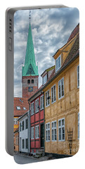 Portable Battery Charger featuring the photograph Helsingor Narrow Street by Antony McAulay