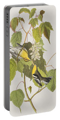 Hemlock Warbler Portable Battery Charger by John James Audubon