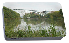 Portable Battery Charger featuring the photograph Henry Hudson Bridge by Cole Thompson