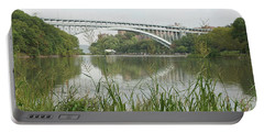 Henry Hudson Bridge Portable Battery Charger by Cole Thompson