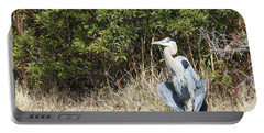 Portable Battery Charger featuring the photograph Henry The Heron by Benanne Stiens