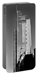 Heron Tower London Black And White Portable Battery Charger